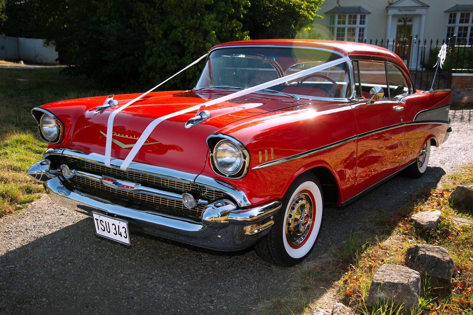 classic american wedding car hire